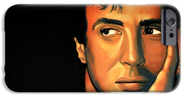Plans iPhone Cases - Sylvester Stallone iPhone Case by Paul  Meijering