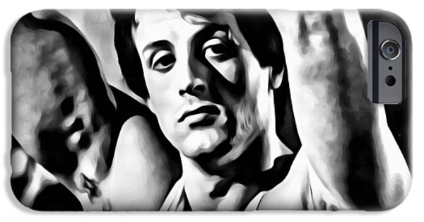 Sylvester Stallone iPhone Cases - Sylvester Stallone Portrait iPhone Case by Florian Rodarte