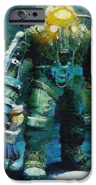 Creepy Paintings iPhone Cases - Symbiosis iPhone Case by Joe Misrasi