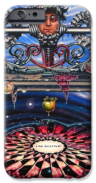 Nebula Paintings iPhone Cases - Symbiotic Love iPhone Case by Ricardo Chavez-Mendez