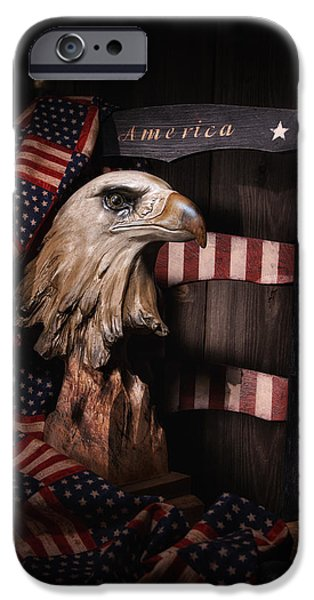 Furniture Photographs iPhone Cases - Symbol of America Still Life iPhone Case by Tom Mc Nemar