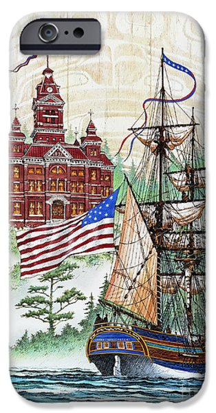 Tall Ship iPhone Cases - Symbols of Our Heritage iPhone Case by James Williamson