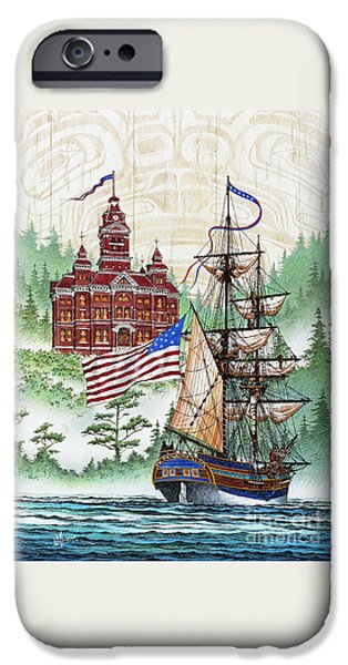 Lady Washington iPhone Cases - Symbols of Our Heritage iPhone Case by James Williamson