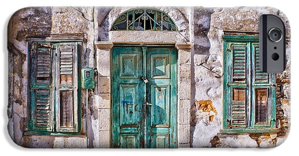 Village iPhone Cases - Symi iPhone Case by Delphimages Photo Creations