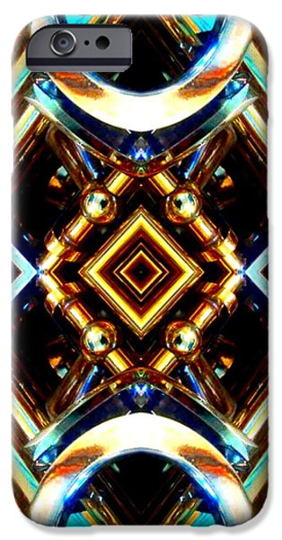 Socal Mixed Media iPhone Cases - Symmetrical Abstracts 1 iPhone Case by Romy Galicia