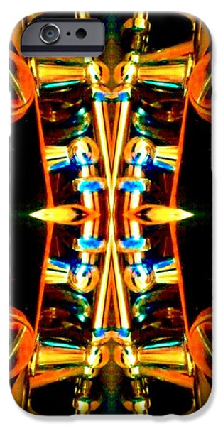 Socal Mixed Media iPhone Cases - Symmetrical Abstracts 3 iPhone Case by Romy Galicia