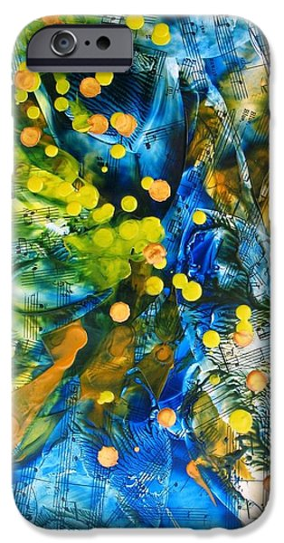 Sheets iPhone Cases - Symphony for Spring iPhone Case by Louise Adams
