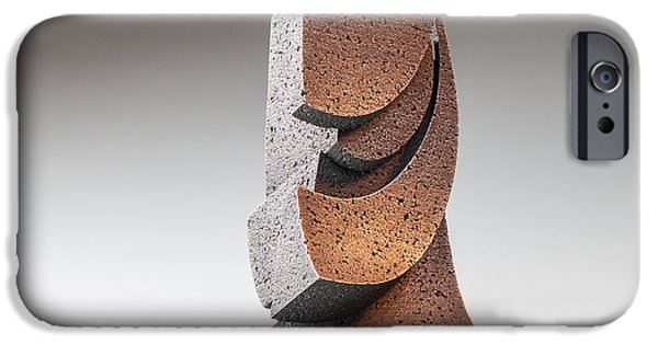 Stainless Steel Sculptures iPhone Cases - Synergy iPhone Case by Richard Arfsten