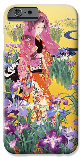 Theatrical iPhone Cases - Syoubu iPhone Case by Haruyo Morita