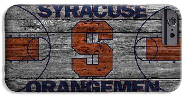 Division iPhone Cases - Syracuse Orangemen iPhone Case by Joe Hamilton