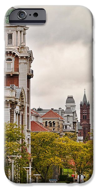 Fall iPhone Cases - Syracuse University Hill iPhone Case by Debra Millet