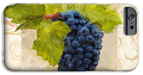 Syrah iPhone Cases - Syrah II iPhone Case by Lourry Legarde