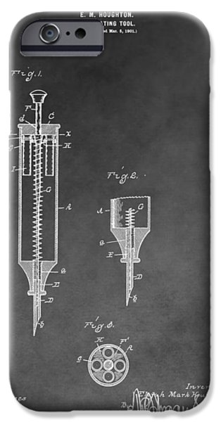 Flu iPhone Cases - Syringe Patent iPhone Case by Dan Sproul