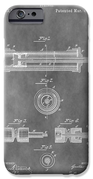 Flu iPhone Cases - Syringe Patent Design iPhone Case by Dan Sproul