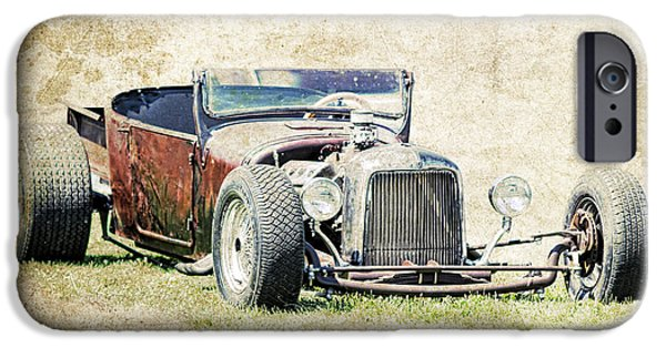 1927 Ford Roadster iPhone Cases - T Bucket Rat iPhone Case by Steve McKinzie