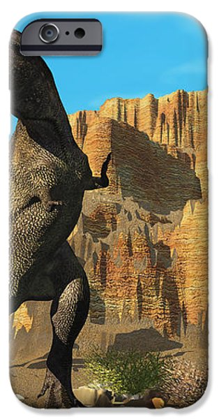T-Rex iPhone Case by Corey Ford