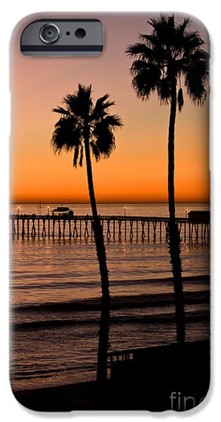 T Street Pier San Clemente California from the book MY OCEAN iPhone Case by Artist and Photographer Laura Wrede