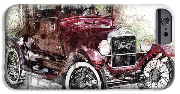 Ford Model T Car iPhone Cases - 1926 Ford Model T iPhone Case by Gary Bodnar