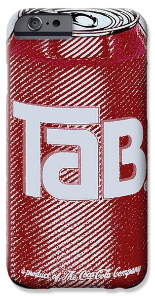 Tab Ode To Andy Warhol iPhone Case by Tony Rubino