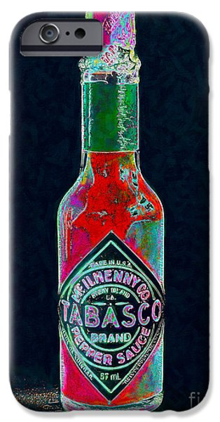 Wing Chee Tong iPhone Cases - Tabasco Sauce 20130402 iPhone Case by Wingsdomain Art and Photography