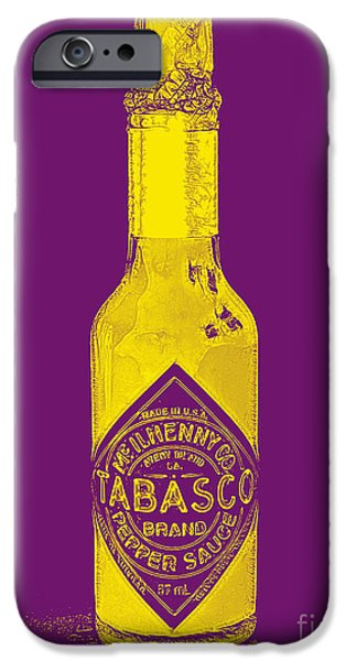 Wing Chee Tong iPhone Cases - Tabasco Sauce 20130402grd iPhone Case by Wingsdomain Art and Photography