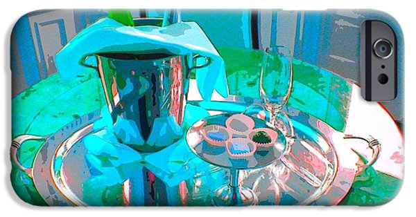Table Wine iPhone Cases - Table #2 iPhone Case by Kazumi Whitemoon