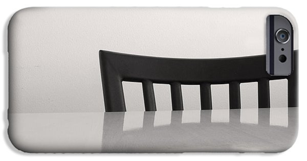 Furniture iPhone Cases - Table and Chair iPhone Case by Don Spenner