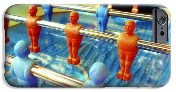 Flu iPhone Cases - Table football iPhone Case by Fabrizio Troiani