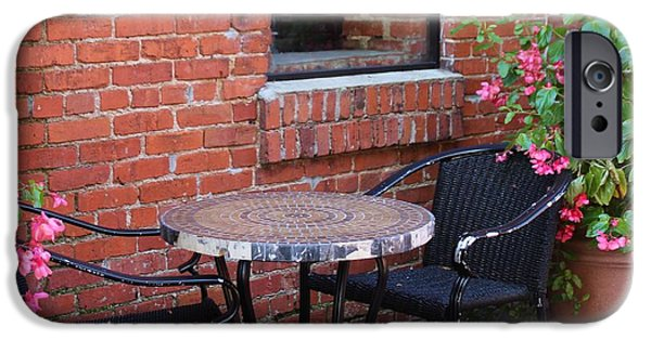 Furniture iPhone Cases - Table For Two iPhone Case by Cynthia Guinn