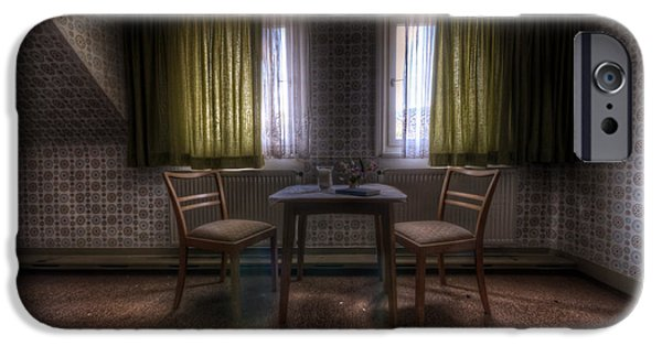 Haunted House Digital Art iPhone Cases - Table for two iPhone Case by Nathan Wright
