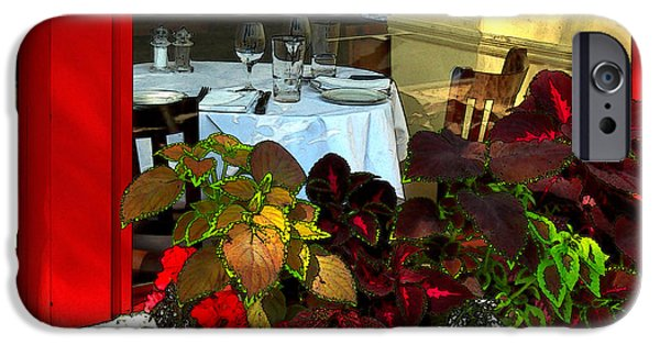 Table Wine iPhone Cases - Table In The Window iPhone Case by James Eddy