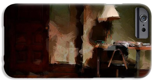 Harlem iPhone Cases - Table Lamp Chair iPhone Case by H James Hoff