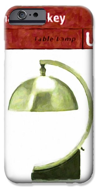 Old Pitcher Paintings iPhone Cases - Table lamp iPhone Case by Lanjee Chee
