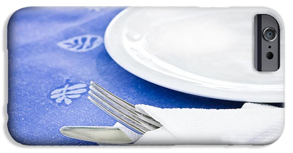 Table Cloth iPhone Cases - Table setting iPhone Case by Tom Gowanlock
