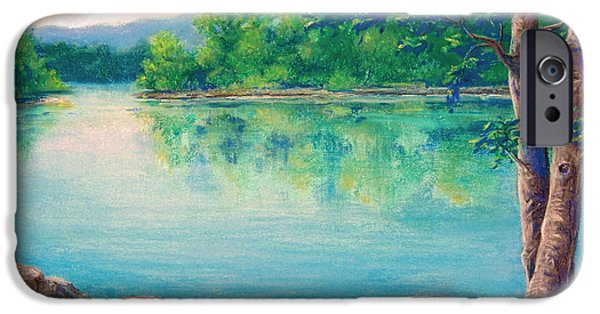 Outdoors Pastels iPhone Cases - Tablerock Cove iPhone Case by Tanja Ware