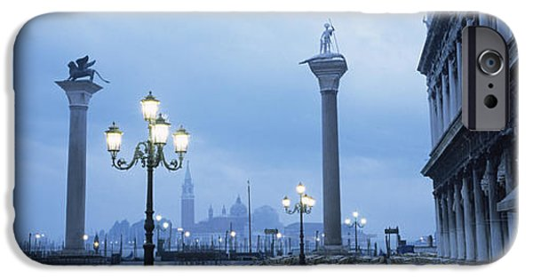 Piazza San Marco iPhone Cases - Tables And Chairs At A Restaurant, St iPhone Case by Panoramic Images