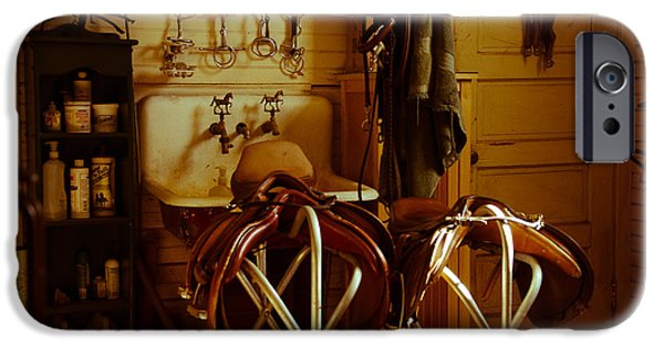 The Horse iPhone Cases - TackRoom iPhone Case by Heidi  Kleva