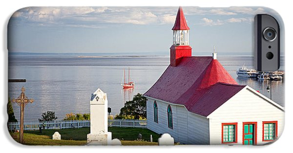 Chapels iPhone Cases - Tadoussac Chapel iPhone Case by Jane Rix