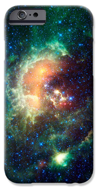 Constellations iPhone Cases - Tadpole Nebula iPhone Case by Science Source