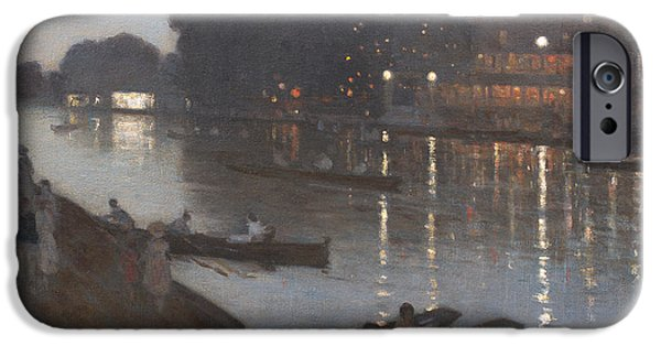 Punting iPhone Cases - Taggs Island  iPhone Case by Percy William Gibbs