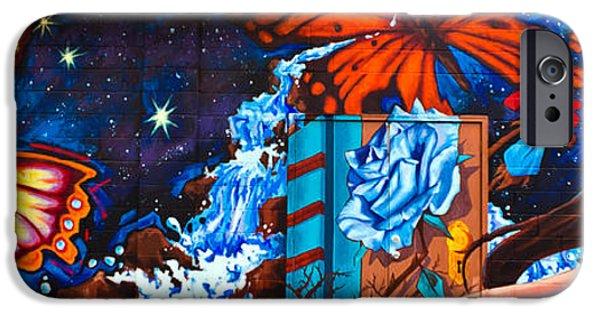 Torn iPhone Cases - Tahlequah Graffiti iPhone Case by Sennie Pierson