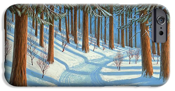 Snowscape Paintings iPhone Cases - Tahoe Forest In Winter iPhone Case by Frank Wilson