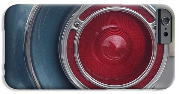 Falcon iPhone Cases - Tail Light Ford Falcon 1961 iPhone Case by Don Spenner