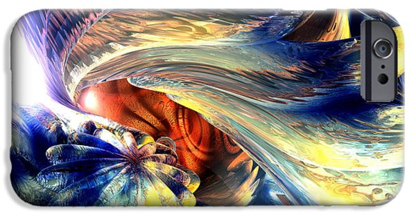 Stellar iPhone Cases - Tailed Beast Abstract iPhone Case by Alexander Butler