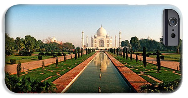 Architectural Feature iPhone Cases - Taj Mahal, Agra, Uttar Pradesh, India iPhone Case by Panoramic Images