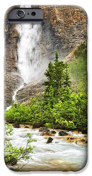 Takakkaw Falls waterfall in Yoho National Park Canada iPhone Case by Elena Elisseeva