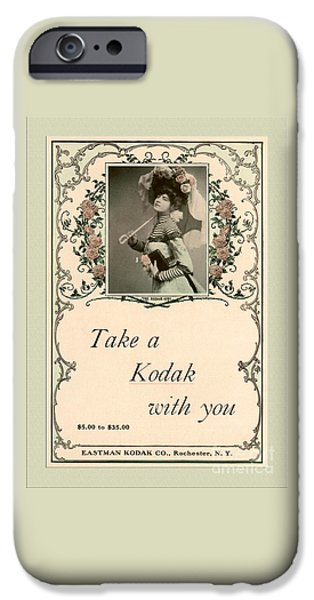 Take a Kodak With You iPhone Case by Anne Kitzman