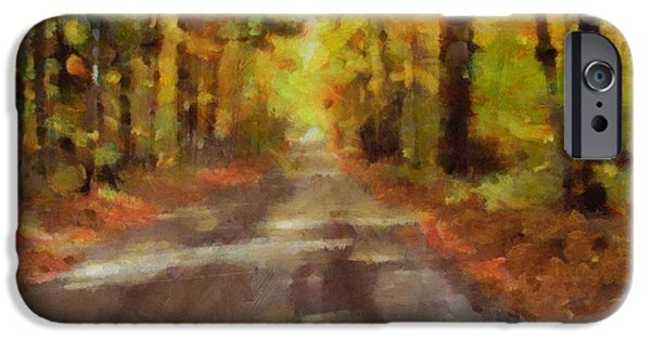 Pathway Mixed Media iPhone Cases - Take Me Home Country Roads iPhone Case by Dan Sproul
