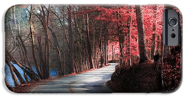 Autumn iPhone Cases - Take Me Home Country Roads iPhone Case by Karen Wiles