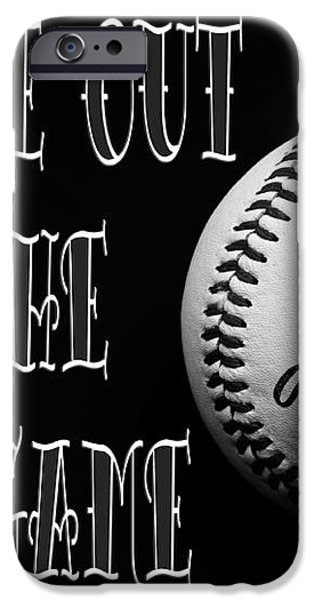 Take Me Out To The Ball Game - Baseball Season - Sports - B W 2 iPhone Case by Andee Design